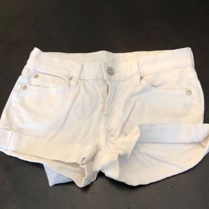 White 7 for all mankind shorts